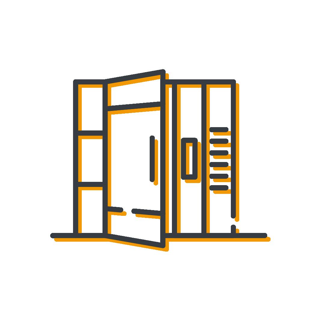 Icône portes d'entrées d'immeuble produits serrurerie Mertens